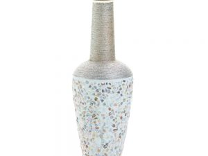 TALL COBBLESTONE DECORATIVE VASE