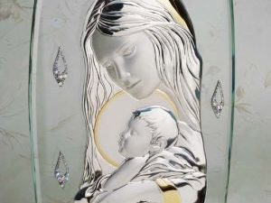 Debra Carlucci -18kt Gold Plated & Swarovski Crystals Madonna & Child