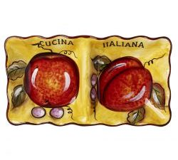 Cucina Italiana Collection 2 Section Appetizer Serving Dish