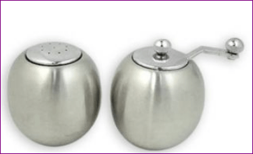 Stainless Steel Round Salt And Pepper Shaker Set Nias Collections