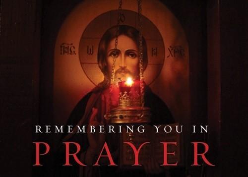 Orthodox Remembering You in Prayer (Lampada) Greeting Cards – 10 pack