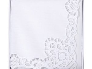 White Lace Bride Hankie