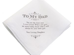 Father, Grandpa and Step-Father Keepsake Hankies
