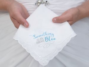 Something Blue Bridal Hankie