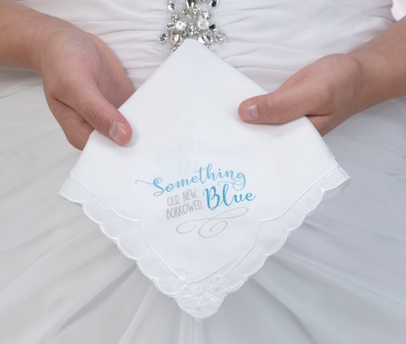 Something Blue Bridal Hankie