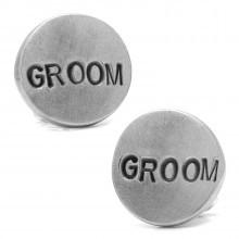 Pewter GROOM Cufflinks