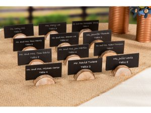 Rustic Wedding Wood Place Card Holders: 24 pieces