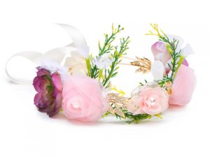 Silk Flower Crown for Flower Girl