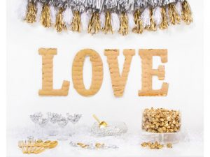 LOVE Decor Party  Kit: Gold