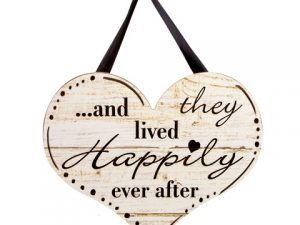 Happily Ever After Wall Decor with Ribbon Hanger