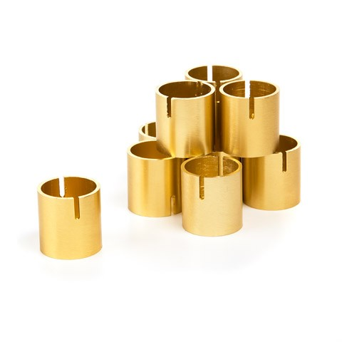 Copper Card Holders – Gold – 1 inch – 10 ct
