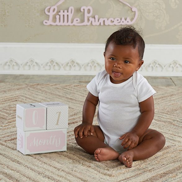 My First Milestone Little Princess Baby Age Blocks