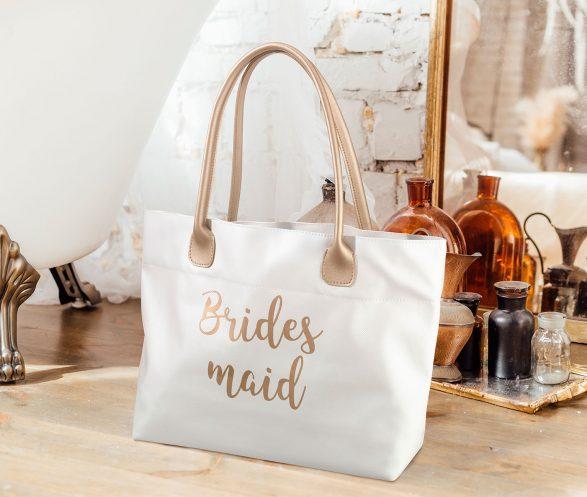 Gold Bridesmaid Tote Bag