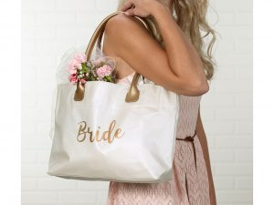 Gold Bride Tote Bag