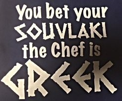 You Bet Your Souvlaki the Chef is GREEK Apron