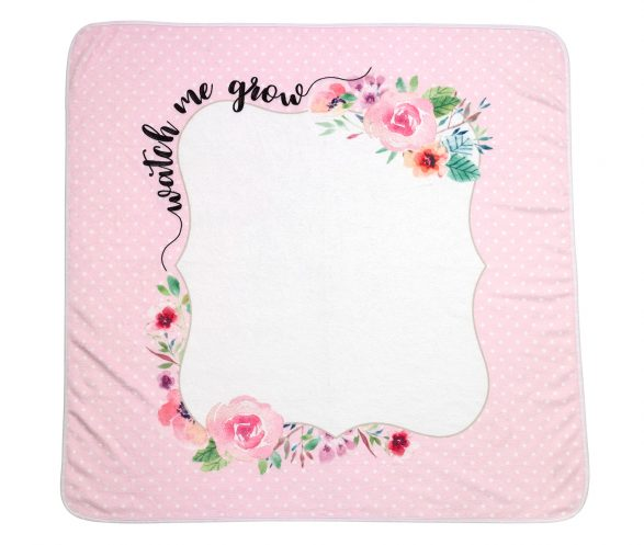 """""""Watch me Grow"""" Baby Blanket with Milestone Cards"""