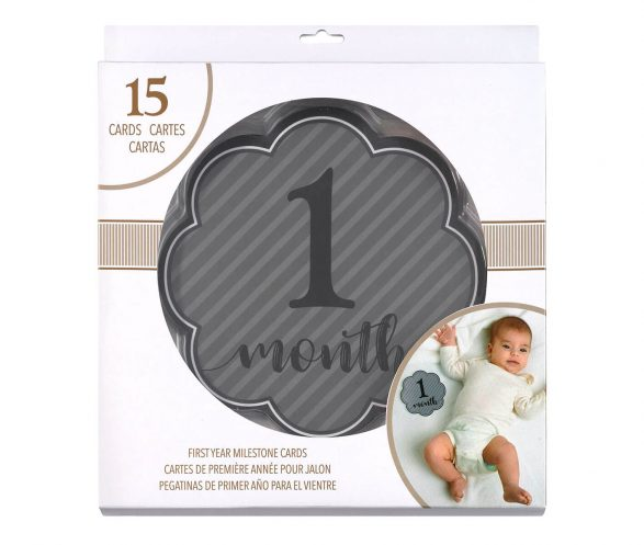 Grey Milestone Card Set (1-15 months)