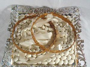 Orthodox Wedding Crown (Stefana) Tray – James (Square)