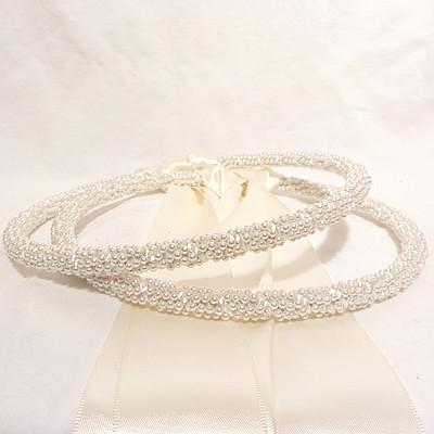 Orthodox Wedding Crowns (Stefana) – St. Marina Pearl White