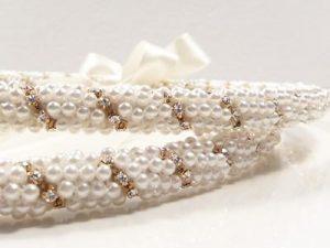 Orthodox Wedding Crowns (Stefana) – St. Marina Rhinestone (Gold)