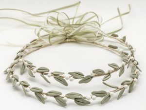 Porcelain Olive Leaves Stefana