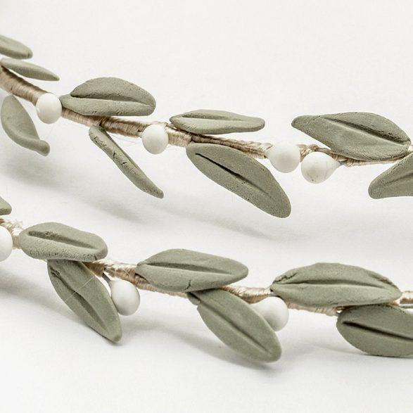 Porcelain Olive Leaves Stefana