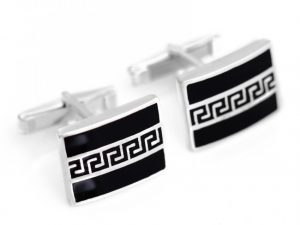 Sterling Silver Greek Key Cufflinks