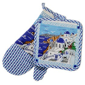 Santorini Landscape Mitt and Potholder 2 pc. Set