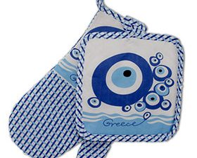 Evil Eye Oven Mitt and Potholder 2 pc.