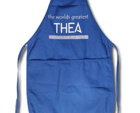 The World's Greatest Thea (Aunt) Full Size Apron with 2 Pockets