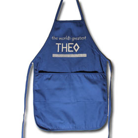 The World's Greatest Theo (Uncle) Full Size Apron with 2 Pockets