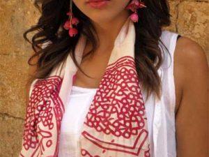 Authentic Greek Silk Scarf w/ Ancient Amhora Design