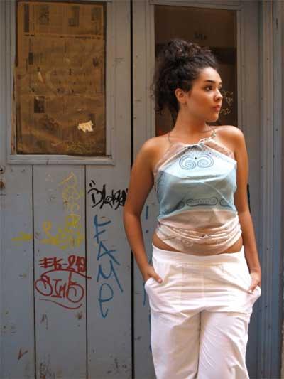 Authentic Greek Silk Shawl / Scarf Beige Akrokeramo Design
