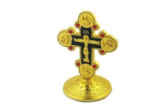 Metal Desk Crucifix Cross