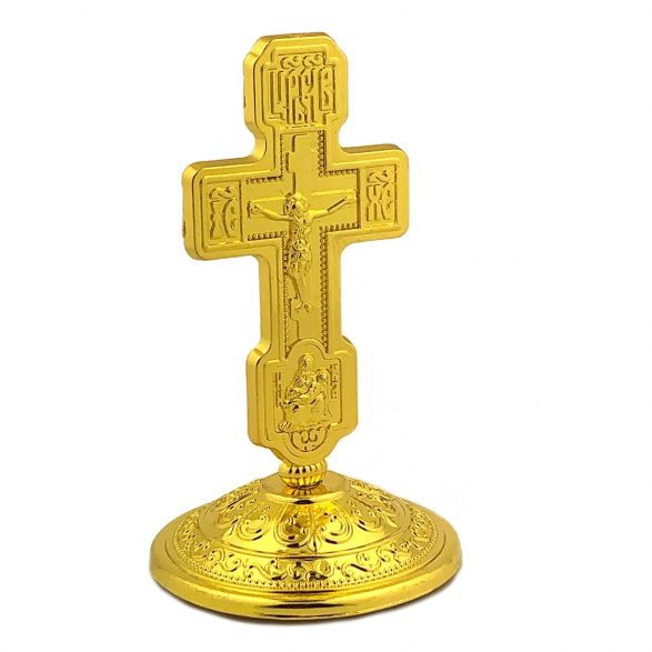 Metal Standing Crucifix Cross