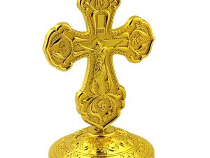 Metal Byzantine Crucifix Desk Cross