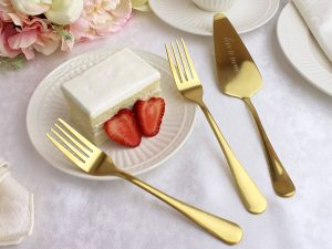 """""""Love is Sweet"""" Server with Set of Forks"""