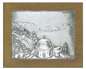 Santorini Silver Engraving Wall Decoration